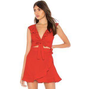 Show Me Your Mumu Red Ruffle Florence Wrap Set